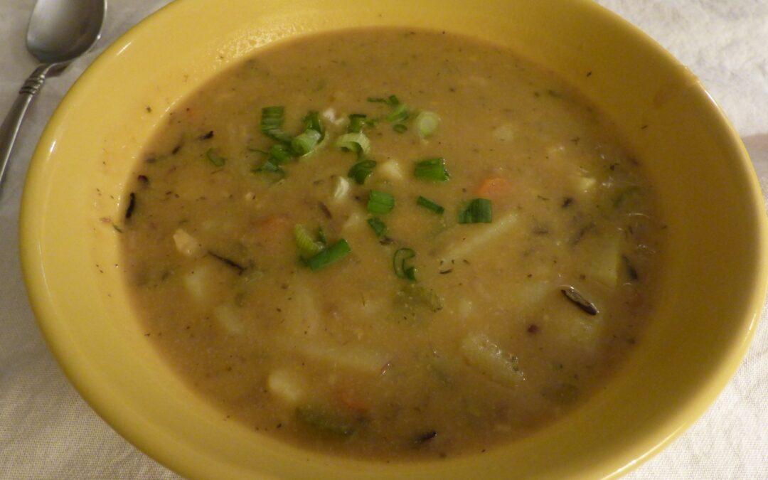 Creamy Vegan Wild Rice Soup